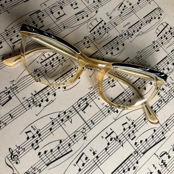 775fc8d7afb1 Vintage Accessories   Late 1940s Rhinestone Shuron Glasses   Poshmark